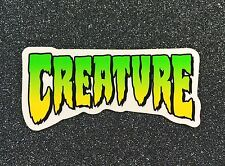 CREATURE Logo Skateboard Sticker 4in si