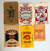 Vintage Paper Tobacco Bags - Lot of 6 Unused