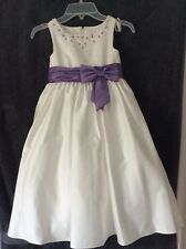 6f925d7cbac7 Ivory Purple Flower Girl Dress in Girls  Dresses 0-24 Months