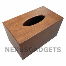 Quar Walnut TISSUE BOX COVER Wood Holder - Large Classy Bathroom Bedroom Decor