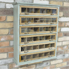 Industrial Vintage Wall Apothecary Cabinet Storage Shelves Unit Chest Of Drawers