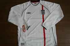 SALE! England 100% Original Soccer Football Jersey Shirt XL 2002 LS BNWT [566]