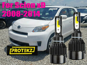LED For Scion xD 2008-2014 Headlight Kit H4/9003 White CREE Bulbs HI/Low Beam