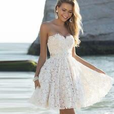 Evening Party Cocktail Ball Bridesmaid Wedding Graduation Short Prom Lace Dress