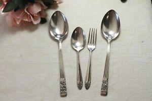 Vintage RODD Silver Plate Serving Spoons, Fork - Berkeley, Carmen - EPNS