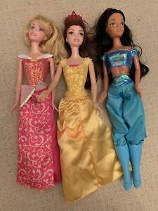 Disney Princess Dolls, Jasmin, Belle And Aurora