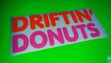 Etiqueta engomada de la Deriva Coche Divertido Semi Donuts, ventana, Parachoques Vinilo Jdm Calcomanía