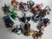 Skylanders Superchargers Lot XBox Figures Vehicles Frightful Drivers Fiesta