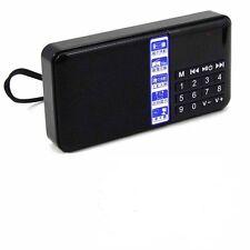 Portable Mini Digital Media Speaker FM Radio USB Micro SD Slot Clock Display