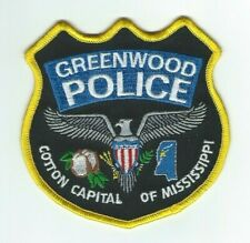 MISSISSIPPI - Greenwood Police patch - Cotton Capital of Mississippi