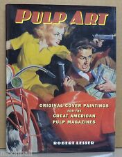 RARE! PULP ART Orig Covers from Great Pulp Magazines by ROBERT LESSER 1st HCDJ