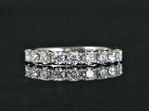 $3,000 14K White Gold 0.75ct Round Diamond Anniversary Ring Wedding Band 7.5