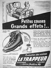 PUBLICITÉ DE PRESSE 1953 CHAUSSURES LE TRAPPEUR LUXE JAMES COUTTET - ADVERTISING