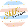48 x BABY SHOWER STICKERS LABELS IT'S A GIRL BOY SURPRISE PARTY FAVOURS