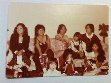 Vintage 60s 70s Photo Filipino Asian Family Christmas Morning Doll Tippy Tumbles