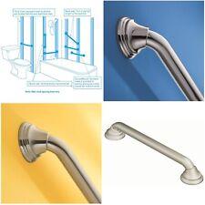 16-Inch Designer Bathroom 1.25 Inch Diameter Grab Bar, Brushed Nickel Moem
