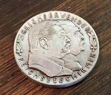 German Karl Goetz Medal Medallion coin Bismarck Hindenburg 1931 silver finish