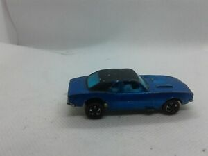 Vintage 1967 Hot Wheels redline blue HK Custom Camaro w/blue interior, rare
