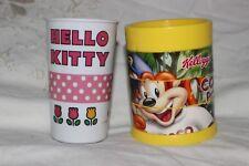 2 Child Mug Cup Hard Plastic Coco Pops Hellow Kitty