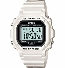 Casio F108WHC-7A, Digital Chronograph Watch, White Resin, Alarm, 7 Year Battery