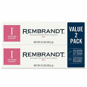 Rembrandt Intense Stain Whitening Toothpaste Mint 3.5 Ounce (2 count)
