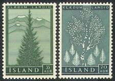 Islanda 1957 imboschimento/ALBERI/PIANTE/abete/Betulla/Ambiente Set 2 V (n25668)
