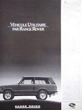 PUBLICITÉ DE PRESSE 1988 RANGE ROVER VÉHICULE UTILITAIRE - ADVERTISING
