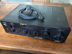 Kenwood KA-770B Vintage Hifi Amplifier - Working With Power Cable / 770 Series
