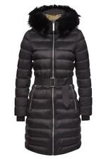 NEW BURBERRY CURRENT LIMEHOUSE BLACK DETACH SHEARLING DOWN-FILLED PUFFER COAT M