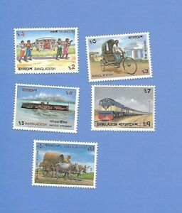 """BANGLADESCH 1987 - postfrisch**MNH - MiNr. 265-270 """"Transportmittel: Zug-Schiff"""""""