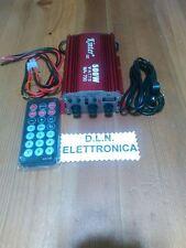 KINTER  AMPLIFICATORE  MA-700 AUDIO 12V FM USB MP3 2 CANALI STEREO TELECOMANDO
