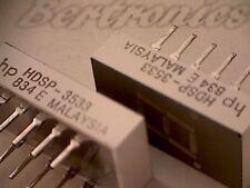 HDSP-3533 [5pcs] LED 7-segment display HP DIP-10 NEW=unused=no pulls=no refurbs