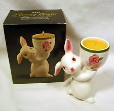 Avon 1981 Weiss Sunny Bunny Easter Rabbit Floral Medley Candle Holder Nos