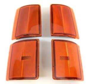 GMC Sierra Yukon Suburban C/K Front Side Marker Light and Reflector Kit 4 pc OEM