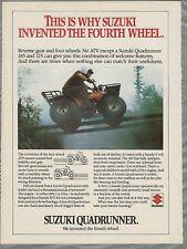 1984 SUZUKI Quadrunner advertisement, Big tire 4-wheel ATV