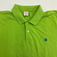 Brooks Brothers Polo Shirt Men's 2XL XXL Short Sleeve Green Original Fit Cotton