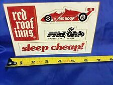 Indianapolis Indy 500 RED ROOF Inns BOBBY RAHAL 1980s Decals NEW!