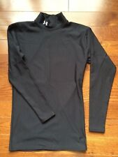 Under Armour youth large black cold gear boys girls mock neck shirt. Nice!