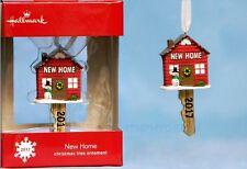 2017 HALLMARK NEW HOME DATED XMAS TREE ORNAMENT 1st HOUSE Key Housewarming GIFT!