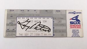 Gary Peters Signed Frank Thomas HR #6 1990 9/27/90 White Sox Brewers Full Ticket
