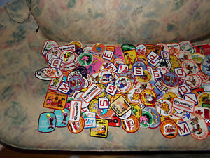 Lot of 150 Vintage  Emboidered Patches  Snow machines  Perfect for Flea Markets