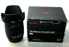 Sigma 18-200mm f/3.5-6.3 DC Lens for Pentax Digital Camera