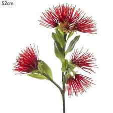 New Artificial Fake Silk Flower Australian Native Protea Leucospermum Red 52cm H