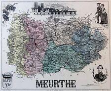 Meurthe / Fluss  - kolorierter Kupferstich - ca. 1840 - Isidore - Villerey - (12