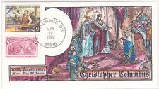 FDC 1992 SC# 2622 COLLINS HANDPAINTED COVER COLUMBUS 500 ANNIVERSARY