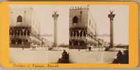 Venezia Palais Ducale Italia Foto Stereo PL55L2n Vintage Albumina c1868