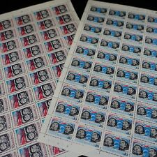URSS RUSSIA RUSSIA FEUILLE SHEET STAMP N°4090/4091 x50 SPACE SPACE 1974