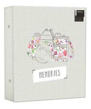 "Large Photo Album Ringbinder Camera Memories Design Holds 500 6"" x 4"" Photos"