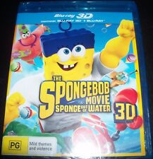 The Spongebob Movie Sponge Out Of Water (Aust Reg B) 3D Bluray + Bluray – New