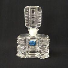 VINTAGE CUT CRYSTAL BOHEMIA GLASS  PERFUME BOTTLE CZECH